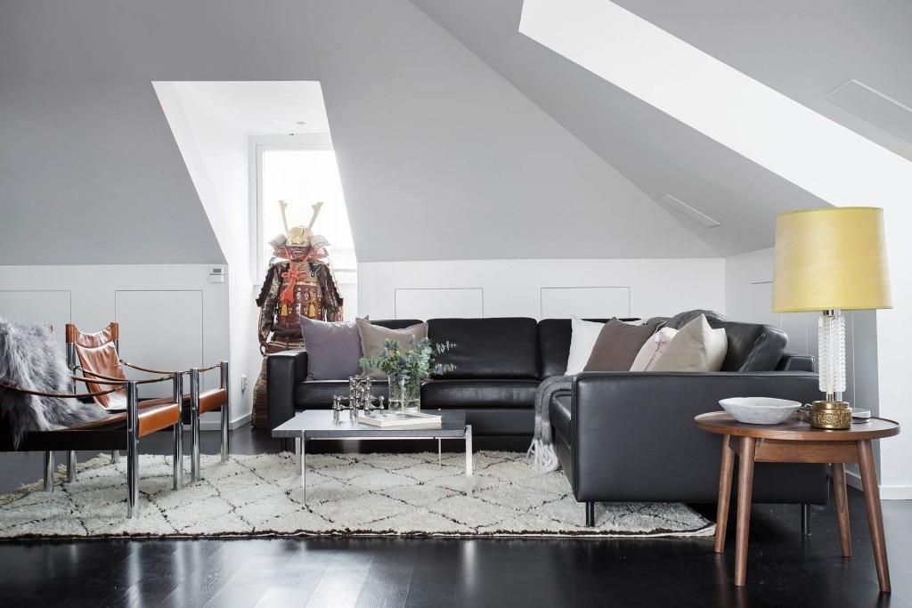 Aviciis vardagsrum lägenhet Stockholm