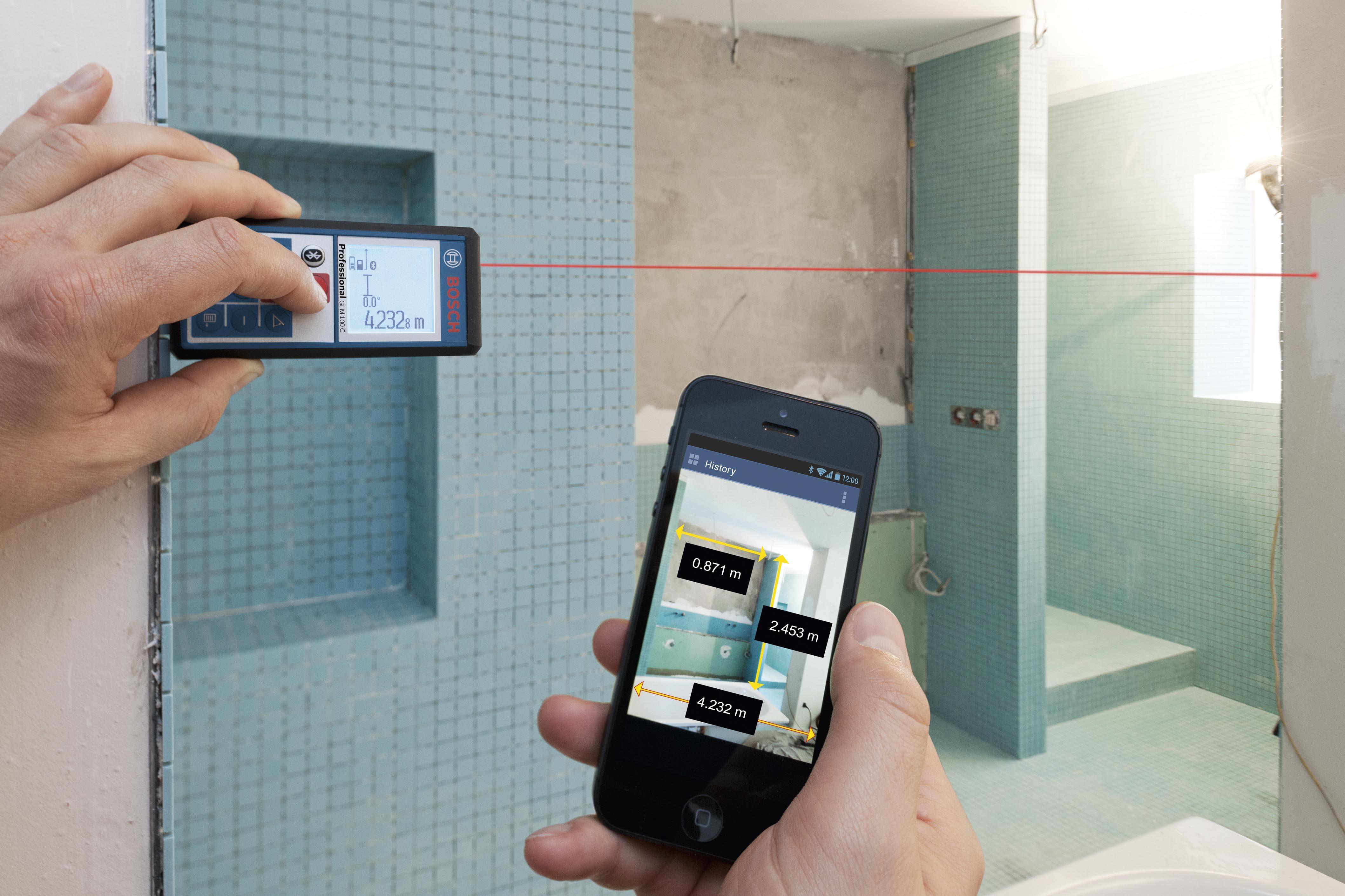 Areamätning med laser och mobilapp
