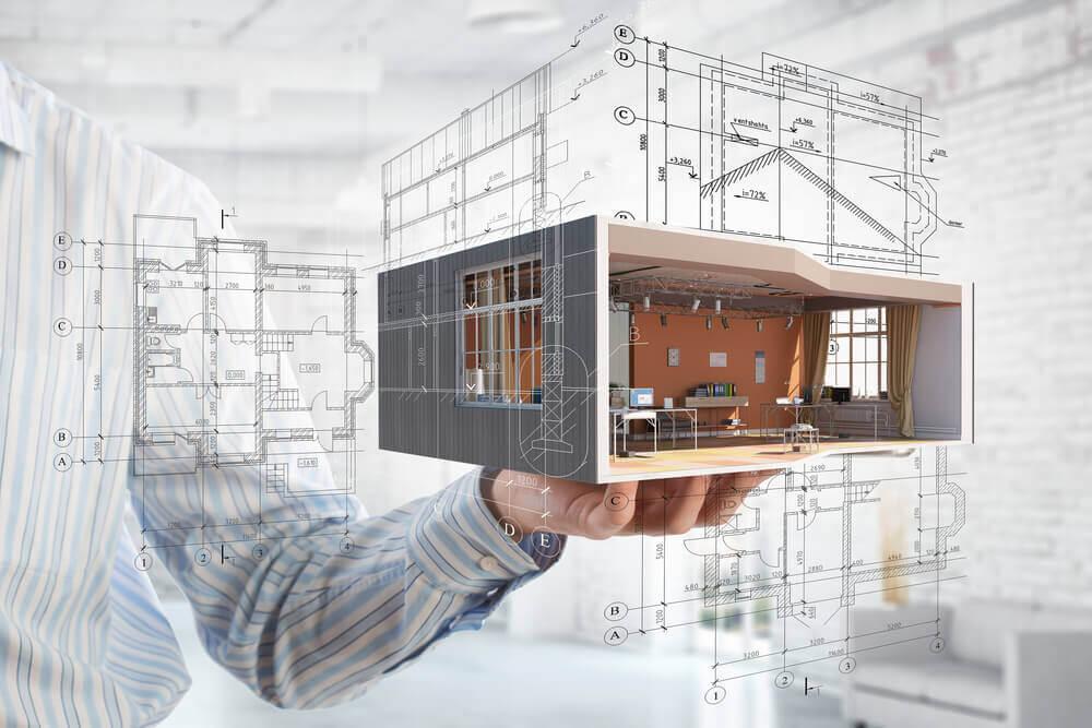 arkitektritat hus i miniatyr